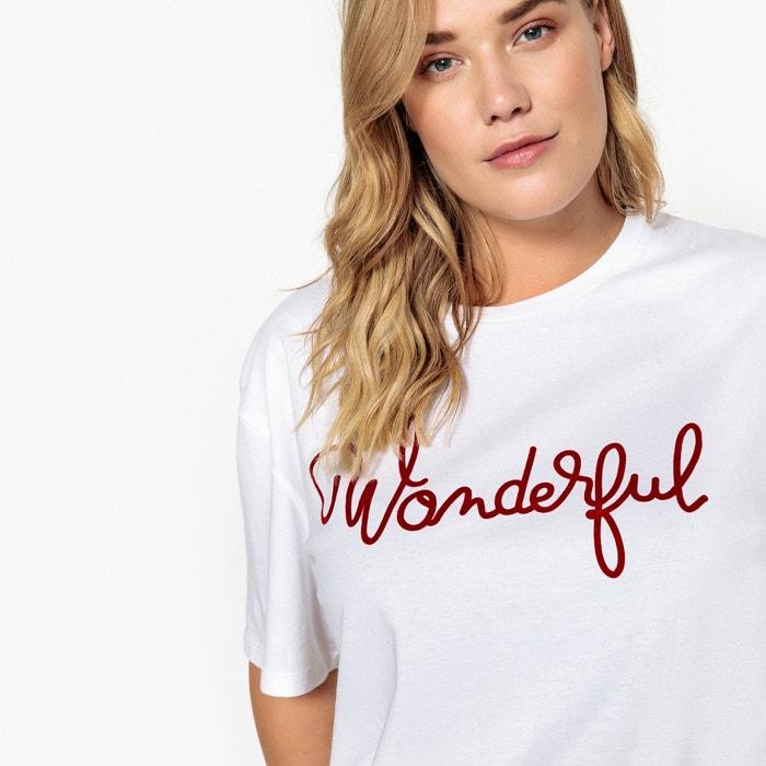 Camiseta CASTALUNA redondo y mensaje manga con cuello corta de BUBpwqHr