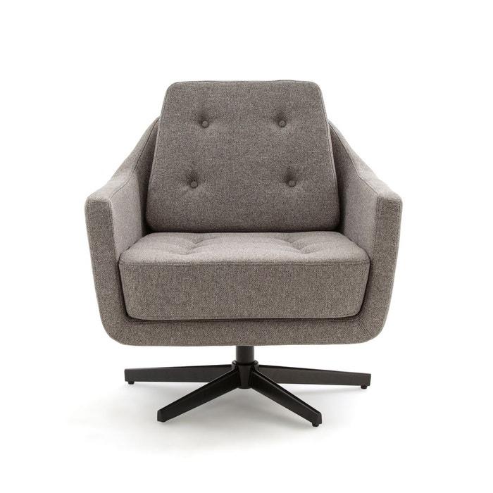 fauteuil pivotant sokut gris chiné la redoute interieurs