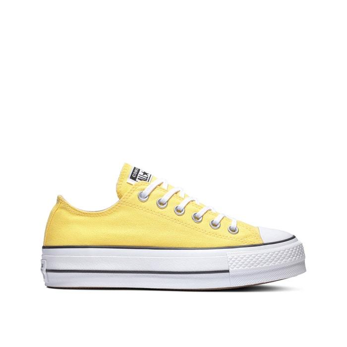 converse plate-forme jaune