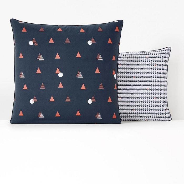 taie d 39 oreiller pur coton digna imprim bleu la redoute. Black Bedroom Furniture Sets. Home Design Ideas