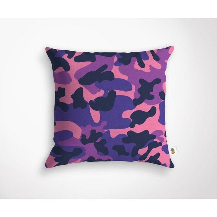Coussin cameo violet 45x45cm violet camouflage housse - Housse de coussin violet ...