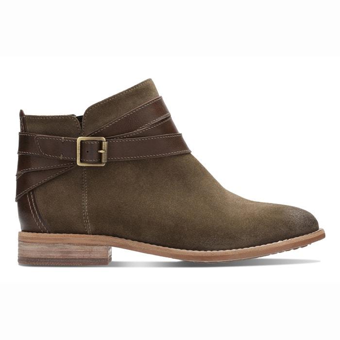 Boots La Clarks Maypearl Olive Edie Redoute Cuir Vert xqgO7