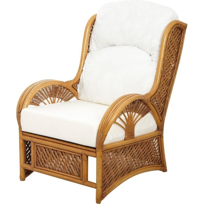 Fauteuil en rotin teint verni marron aubry gaspard la redoute - La redoute fauteuil rotin ...