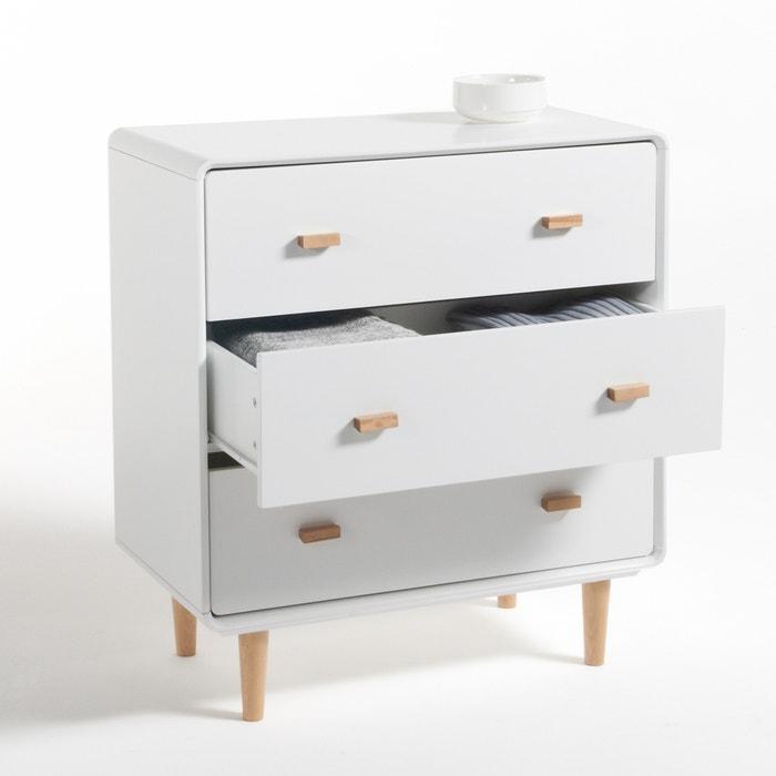 commode 3 tiroirs jimi blanc la redoute interieurs la redoute. Black Bedroom Furniture Sets. Home Design Ideas