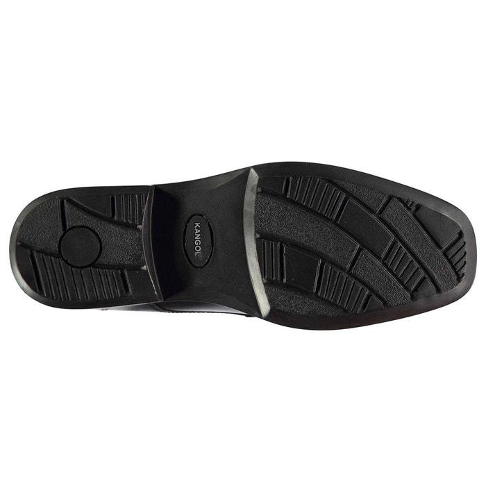 Chaussures derbies habillées en cuir noir Kangol