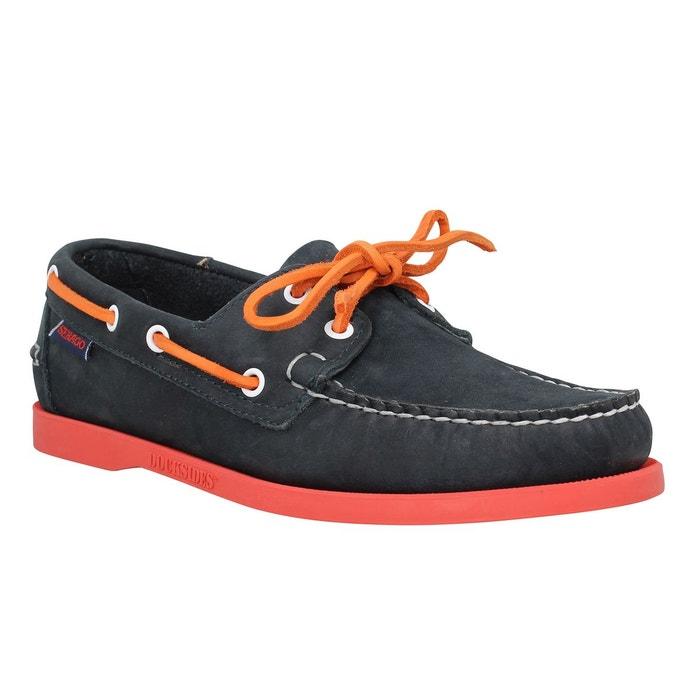 Chaussures bateaux homme sebago docksides velours  homme marine + rouge  marine / rouge Sebago  La Redoute