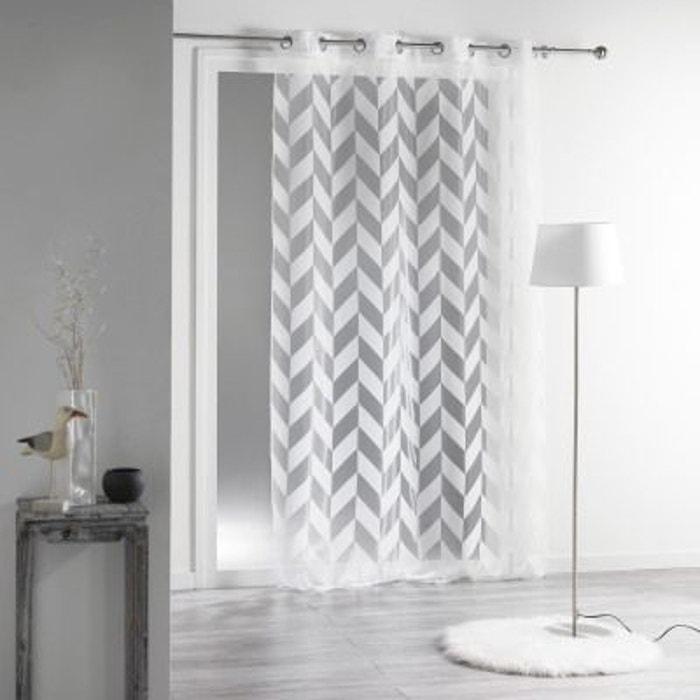 voilage oeillets 140x240 organza lilia douceur d interieur. Black Bedroom Furniture Sets. Home Design Ideas