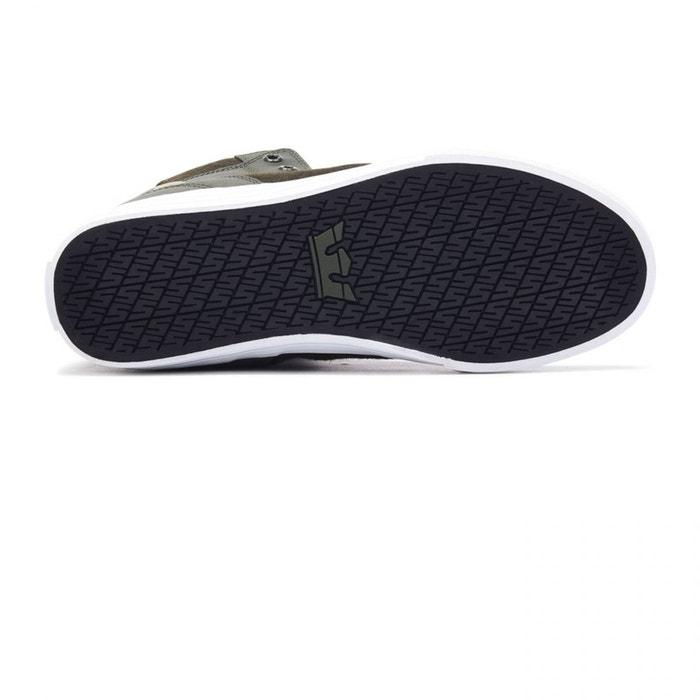 Chaussures vaider dark olive/white vert Supra