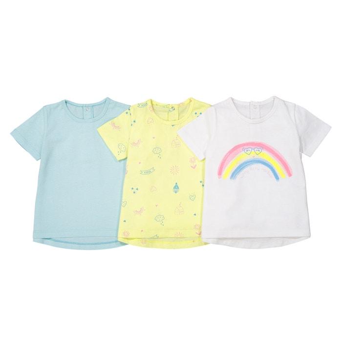 Confezione da 3 T-shirt Oeko Tex 1 mese - 3 anni  La Redoute Collections image 0