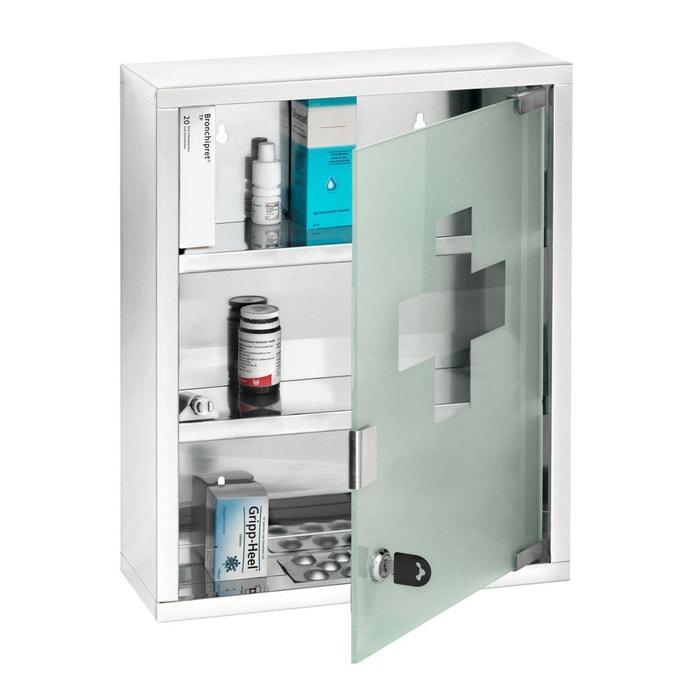 Mojawo Armoire /à Pharmacie en Acier Inoxydable Pharmacie Rangement Brillant 30/x 30/x 20/CM