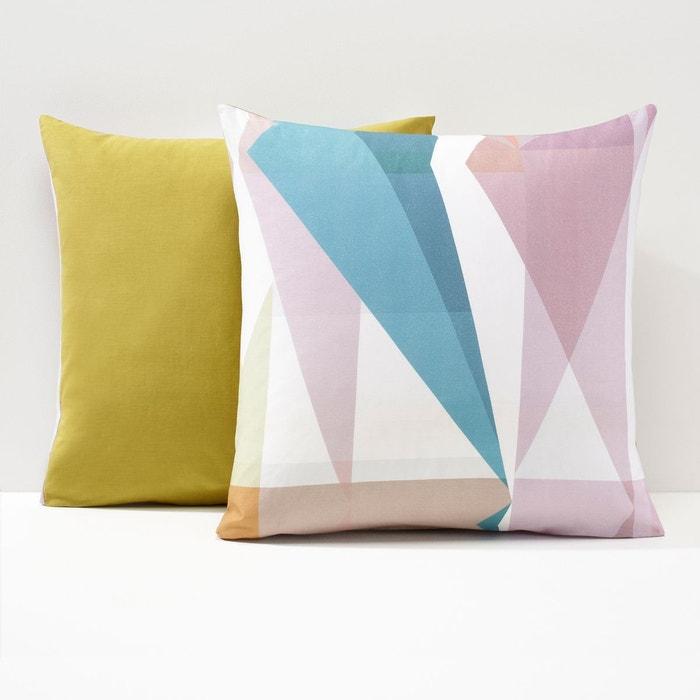 taie d oreiller kalescope bleu rose vert la redoute interieurs la redoute. Black Bedroom Furniture Sets. Home Design Ideas
