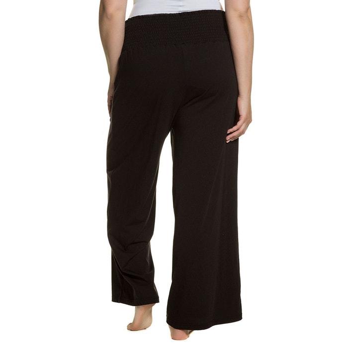 Pantalon de pyjama ceinture élastique marlène noir Ulla Popken   La ... 1fd7fe0b641