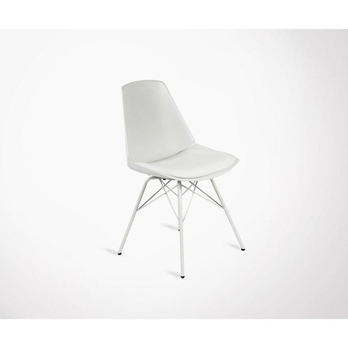 2 Chaises Design Anji Pieds Métal Meubles Design La Redoute