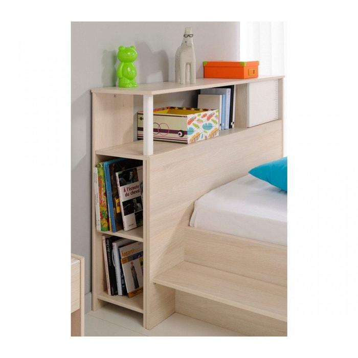 environnement de lit enfant en bois blanc et acacia ev1007. Black Bedroom Furniture Sets. Home Design Ideas