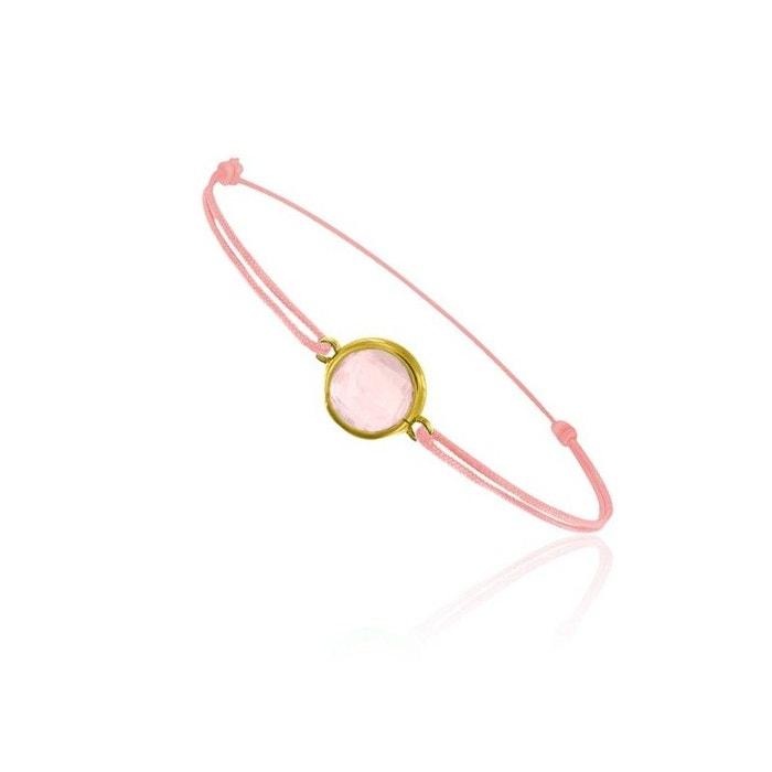 Bracelet cordon rose montés avec un quartz rose rose Be Jewels | La Redoute Vente 2018 Livraison Gratuite 2018 Le Plus Récent Nouvelle Arrivée À La Vente Vente Style De Mode Pas Cher Sortie Par Carte De Crédit fkxYA290vl