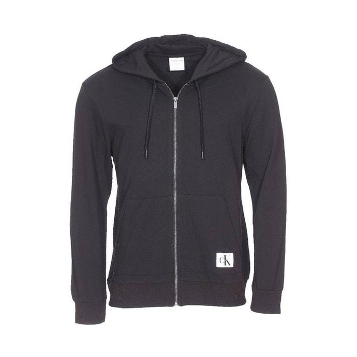 noir capuche calvin zippé klein zip hoodie à molleton full Sweat en S5qvw4WP