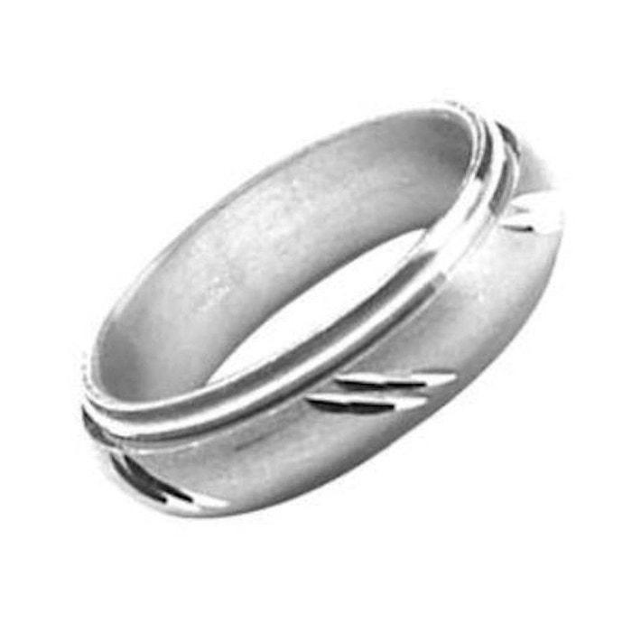 Bague alliance anneau motif barres obliques diagonale tournant mobile anti Acheter Plus Bas Prix Pas Cher Sortie D'usine remise 72zrUm