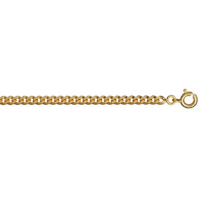 Collier chaîne mixte 50 cm maille gourmette 3,2 mm plaqué or 750 couleur unique So Chic Bijoux | La Redoute