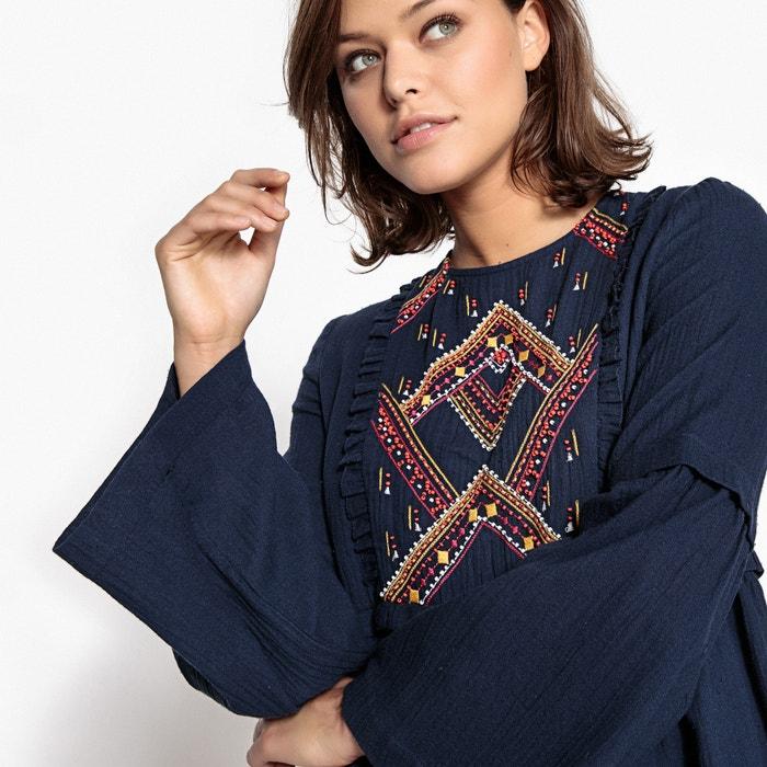 Image Folk Stlye Embroidered Dress SUNCOO