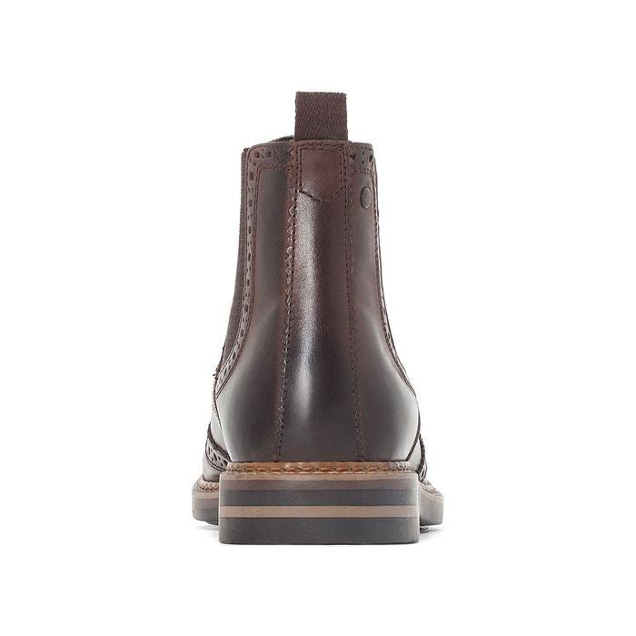 Chealsea boots bout fleuri riley marron Base London