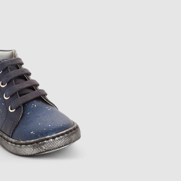 cb9e7a32d Zapatillas de caña alta con detalles brillantes le azul Gbb