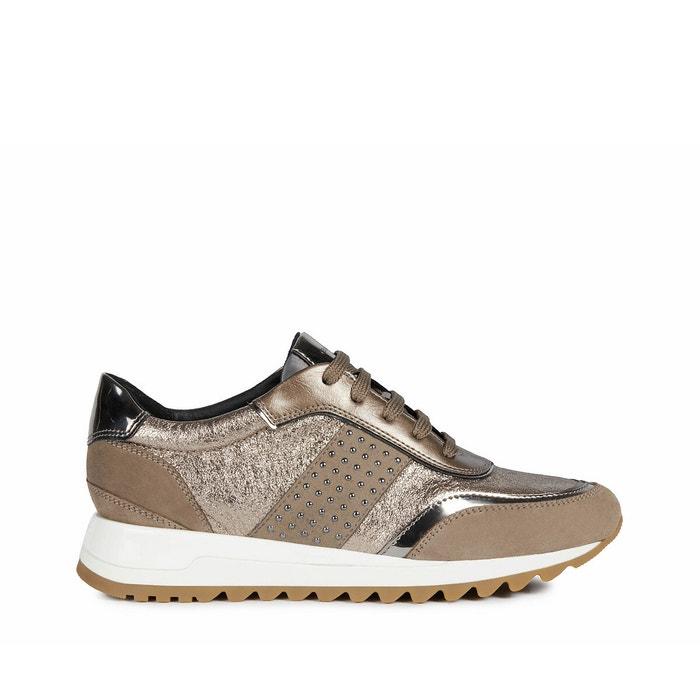 viva fácil de lastimarse Buscar a tientas  Tabelya leather trainers taupe/silver-coloured Geox | La Redoute