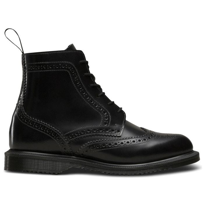 3e5a6ddeee1 Boots cuir à lacets delphine noir Dr Martens