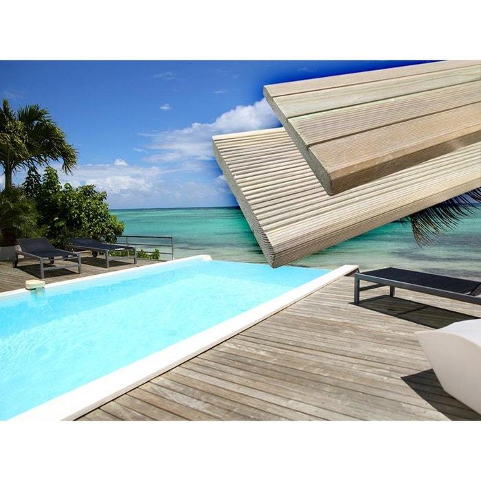 lames de terrasse en bois autoclave couleur unique h j habitat et jardin la redoute. Black Bedroom Furniture Sets. Home Design Ideas