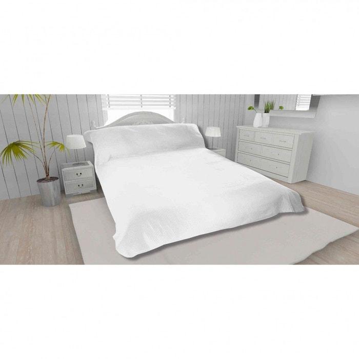 jet de lit 100 polyester leo blanc soleil d ocre la. Black Bedroom Furniture Sets. Home Design Ideas