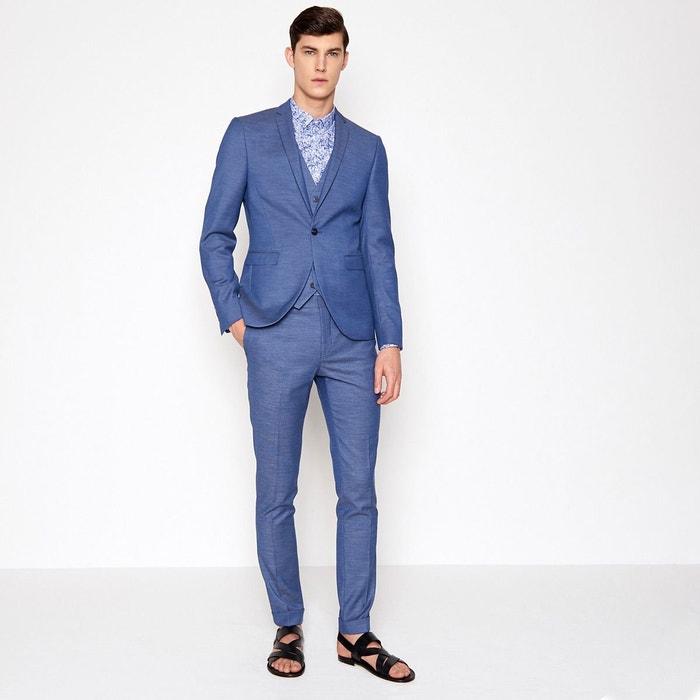 e35ab293da92a Veste de costume bleu homme bleu blustone Devred   La Redoute