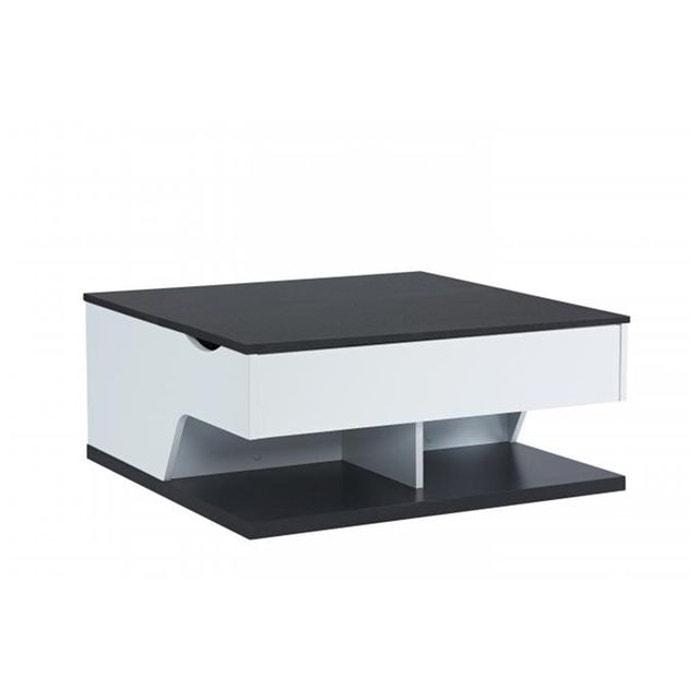 Table Basse Blanc Noir Sherwood Noir Declikdeco La Redoute