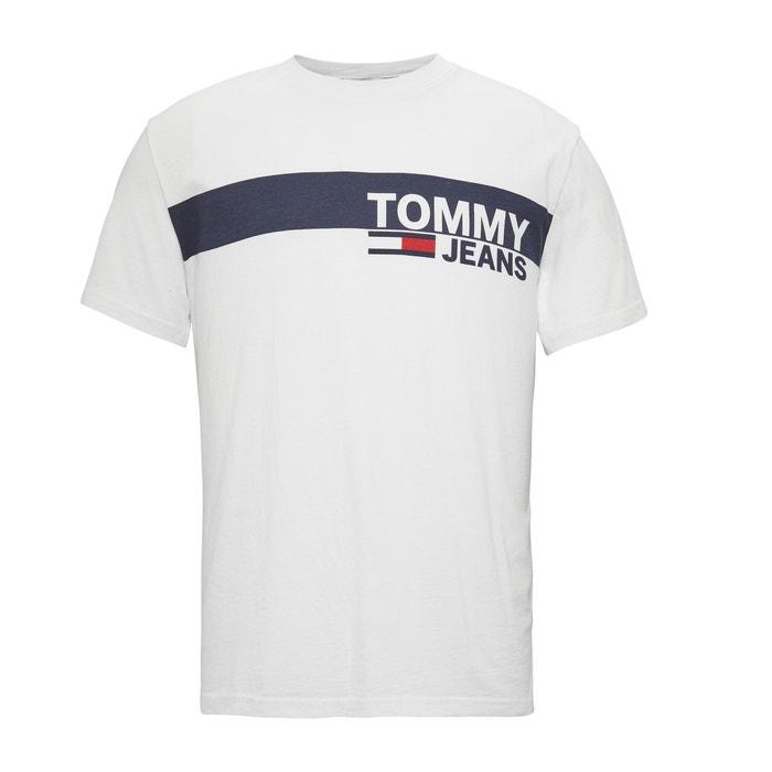 e5a306ed0 T-shirt com motivo, gola redonda, em algodão Bio, Essental TOMMY JEANS