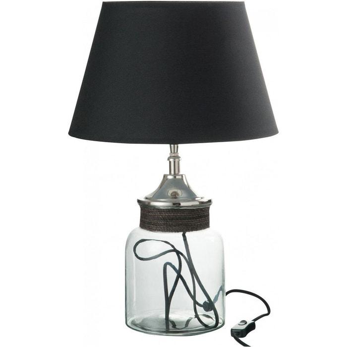 Pied De Lampe Abat Jour Pot Cordon Verre Aluminium Transparent