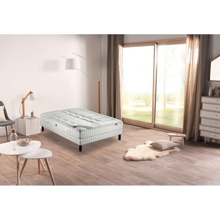 ensemble matelas plaza et sommier blanc epeda la redoute. Black Bedroom Furniture Sets. Home Design Ideas
