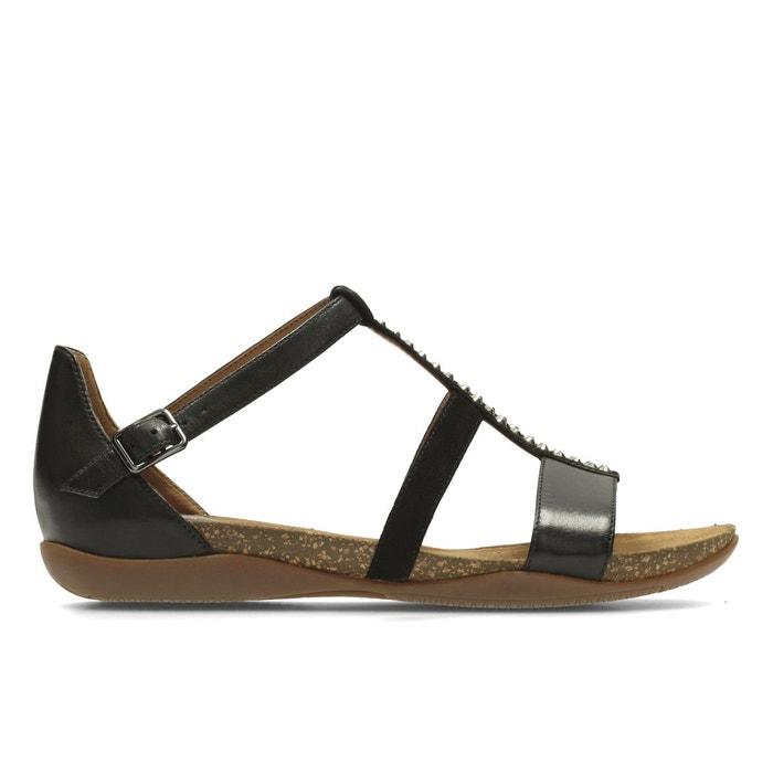 Clarks Autumn Fresh Noir - Chaussures Sandale Femme
