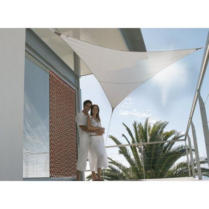 voile d 39 ombrage triangulaire 5 x 5 x 5 m taupe couleur unique jardideco la redoute. Black Bedroom Furniture Sets. Home Design Ideas