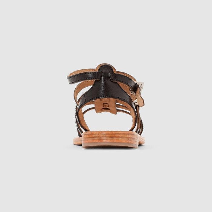 Sandales cuir hic Les Tropeziennes Par M Belarbi