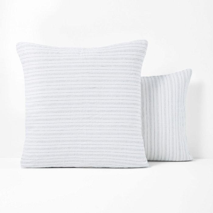 taie d 39 oreiller lin lav uzes la redoute interieurs la. Black Bedroom Furniture Sets. Home Design Ideas