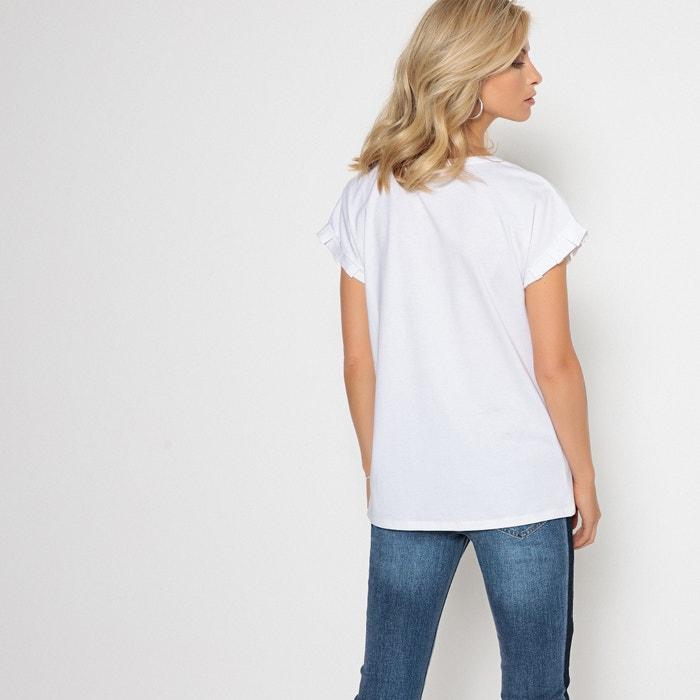 WEYBURN punto ANNE cuello con redondo Camiseta y cuentas de RFxnwqvtd