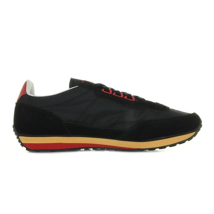 Baskets azstyle vintage noir, rouge, orange Le Coq Sportif