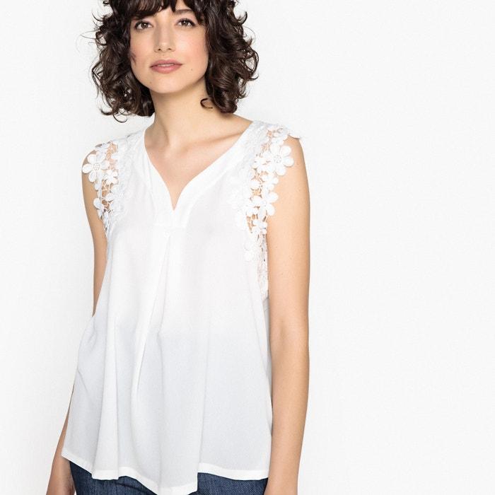 Blusa lisa con cuello de pico, sin mangas  MOLLY BRACKEN image 0