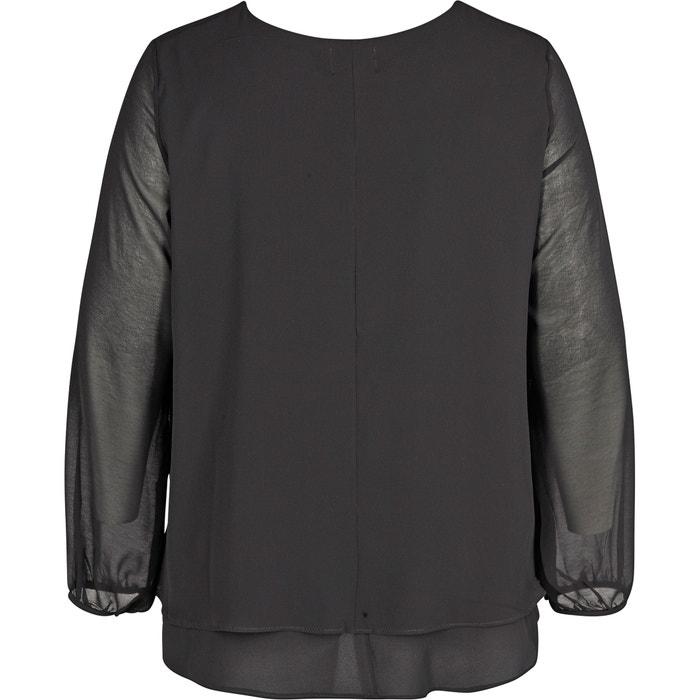 Blusa amplio con lisa ZIZZI cuello boyfriend redondo FW1cq4dqn