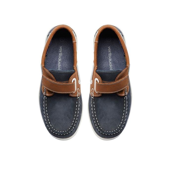 7b56f8d1b98ed Chaussures bateau garçon en cuir bleu Vertbaudet   La Redoute