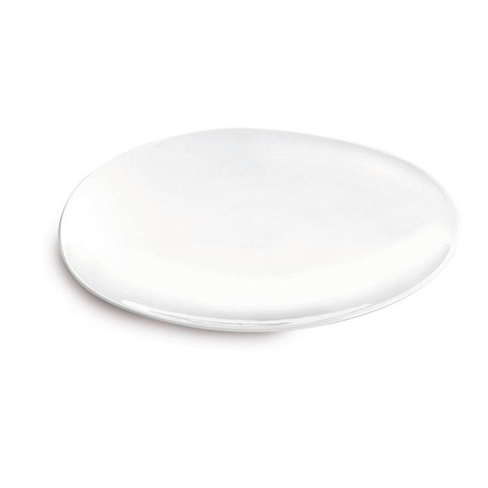 lot de 6 assiette dessert galet blanc sibo homeconcept la redoute. Black Bedroom Furniture Sets. Home Design Ideas