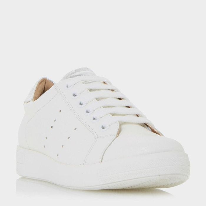 Baskets classiques à lacets - equels  blanc cuir Dune London  La Redoute