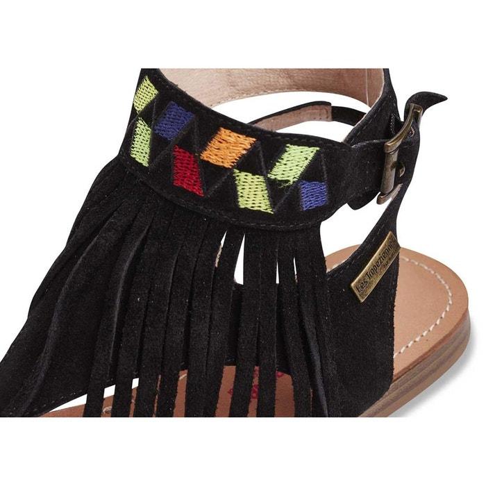 Sandales entre doigts gwenel noir Les Tropeziennes Par M Belarbi