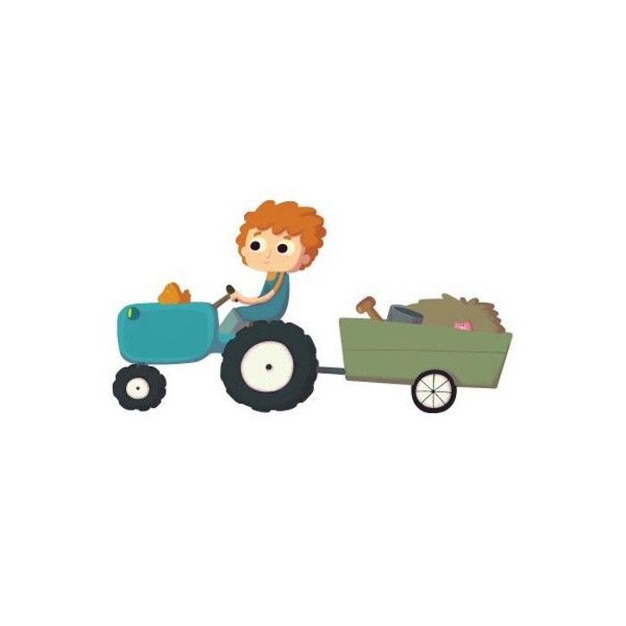 Sticker enfant : Fermier sur Tracteur  DECOLOOPIO image 0