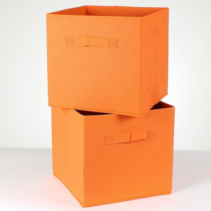lot de 2 cubes de rangement intiss 28 cm casame la redoute. Black Bedroom Furniture Sets. Home Design Ideas