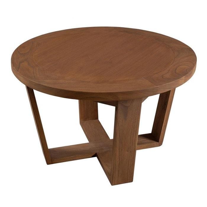 petite table basse ronde bois cannelle 65x65x40 fanny. Black Bedroom Furniture Sets. Home Design Ideas