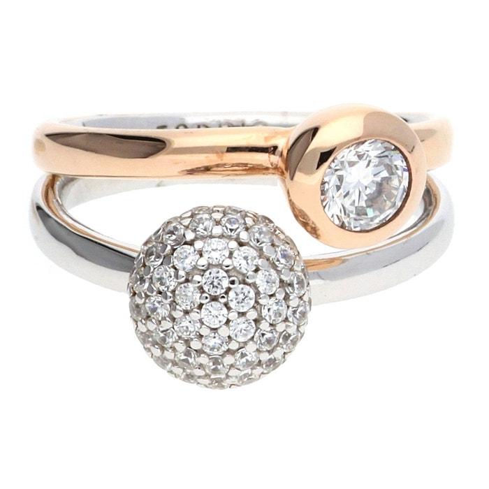 Explorer Sortie Bague argent double embrace glam or Footlocker Boutique Pas Cher UMdyD1a